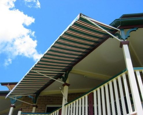 Fixed cafe awnings