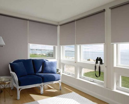 """Image of roller blinds that block light   Featured image for """"Blinds for Sleeping Well""""   Blog"""
