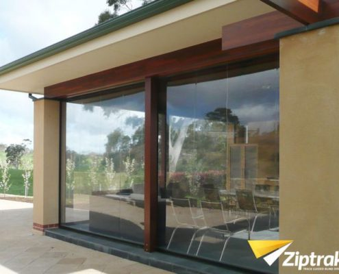 Clear Crank Operated Straight Drop Awning | Featured image for Gallery Showcase landing page